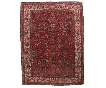 Antique Handmade Persian Sultanabad Rug