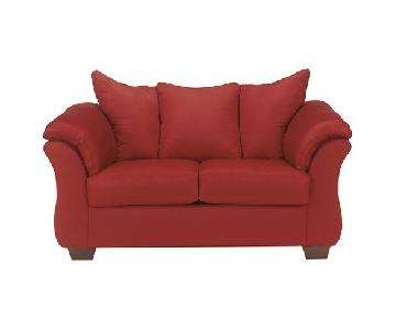 Jennifer Darcy Loveseat in Salsa