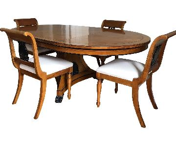 Baker Dining Table w/ 4 Chairs