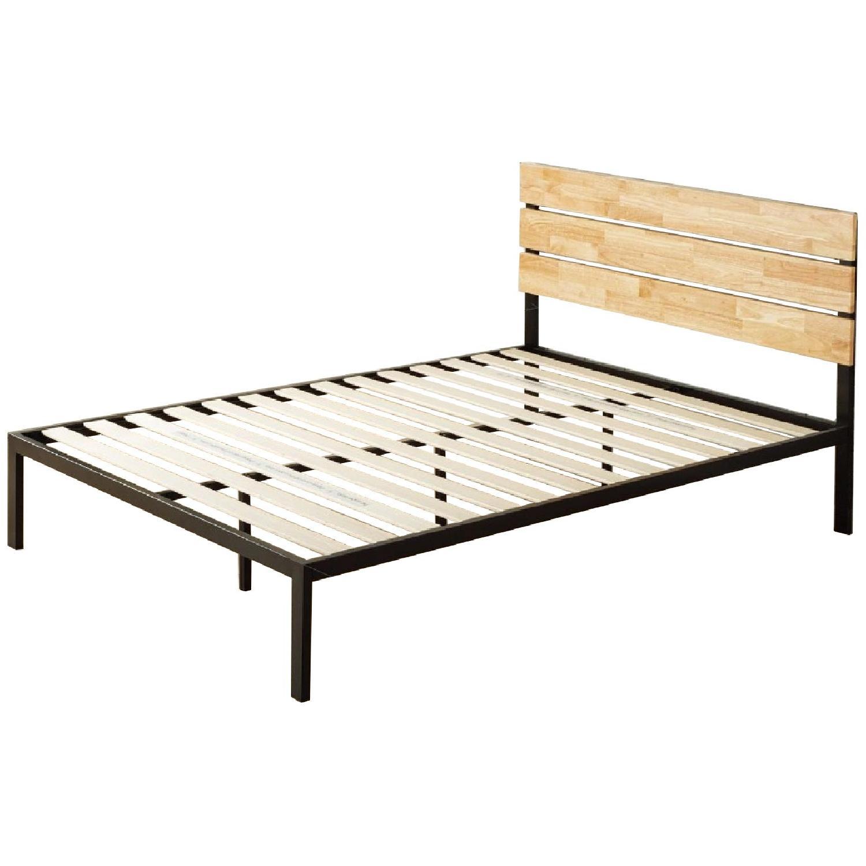 Zinus Sonoma Metal & Wood Platform Bed w/ Wood Slat Support