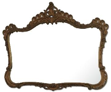Antique Gold Wood Frame Mirror