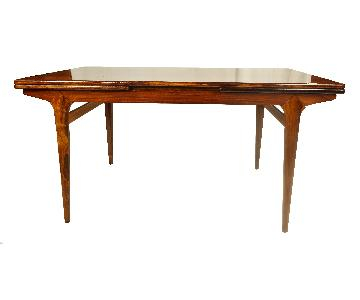 Vintage Danish Rosewood Dining Table w/ Leaves