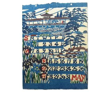 Mid Century Japanese Wall Art - May
