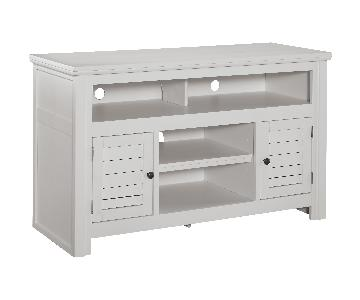 Ashley's Cream Medium TV Stand