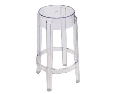 Counter Height Round Stool in Scratch & Weather Resistant Tr