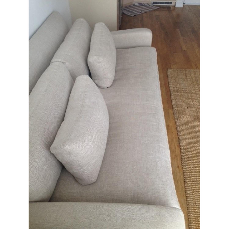 ... Restoration Hardware Belgian Slope Arm Sofa 3