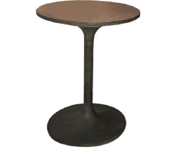 West Elm Concrete Pedestal Side Table