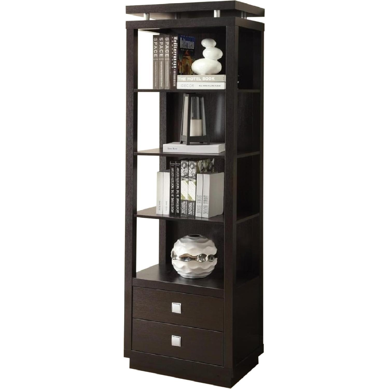 Modern Display Shelf w/ 2 Bottom Utility Drawers