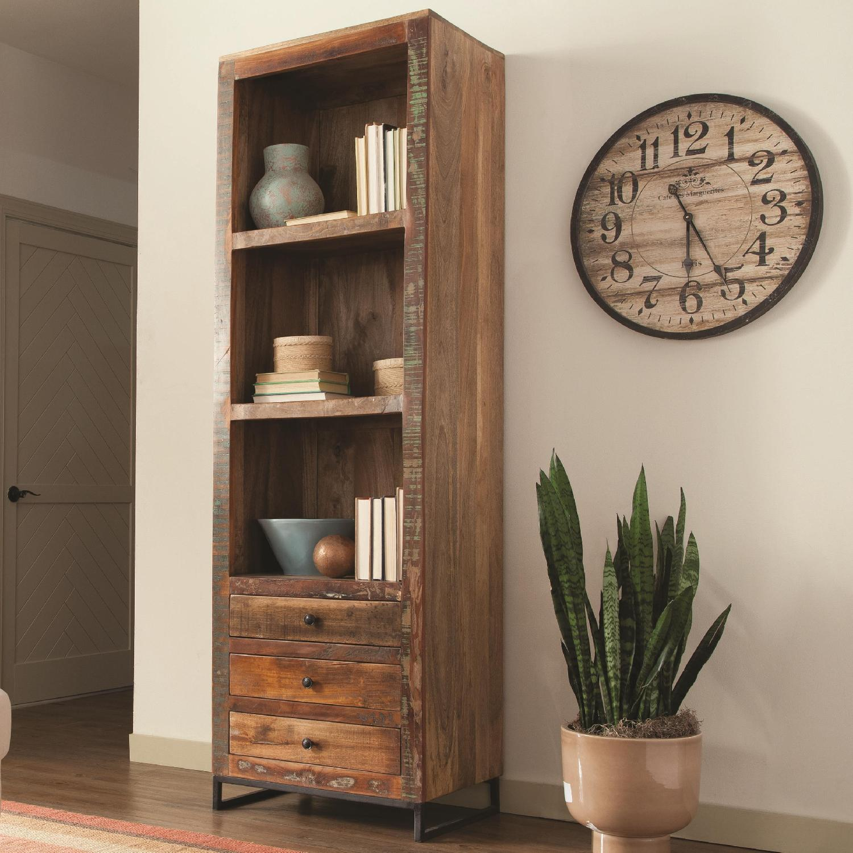 Bookcase In Reclaimed Wood W 3 Shelves 3 Bottom Utility