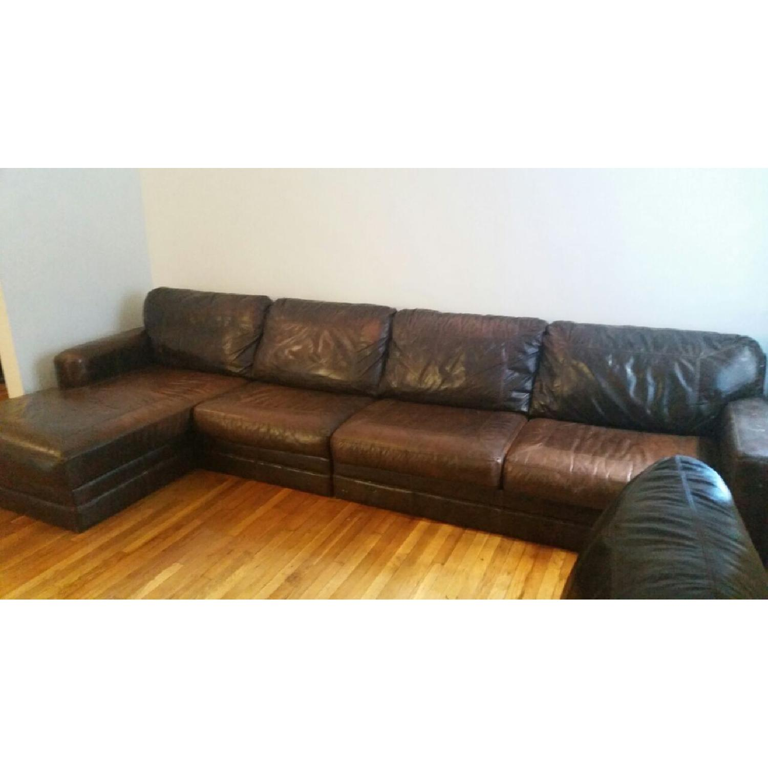 Used sectionals for sale in nyc aptdeco for Used leather sectional sleeper sofa