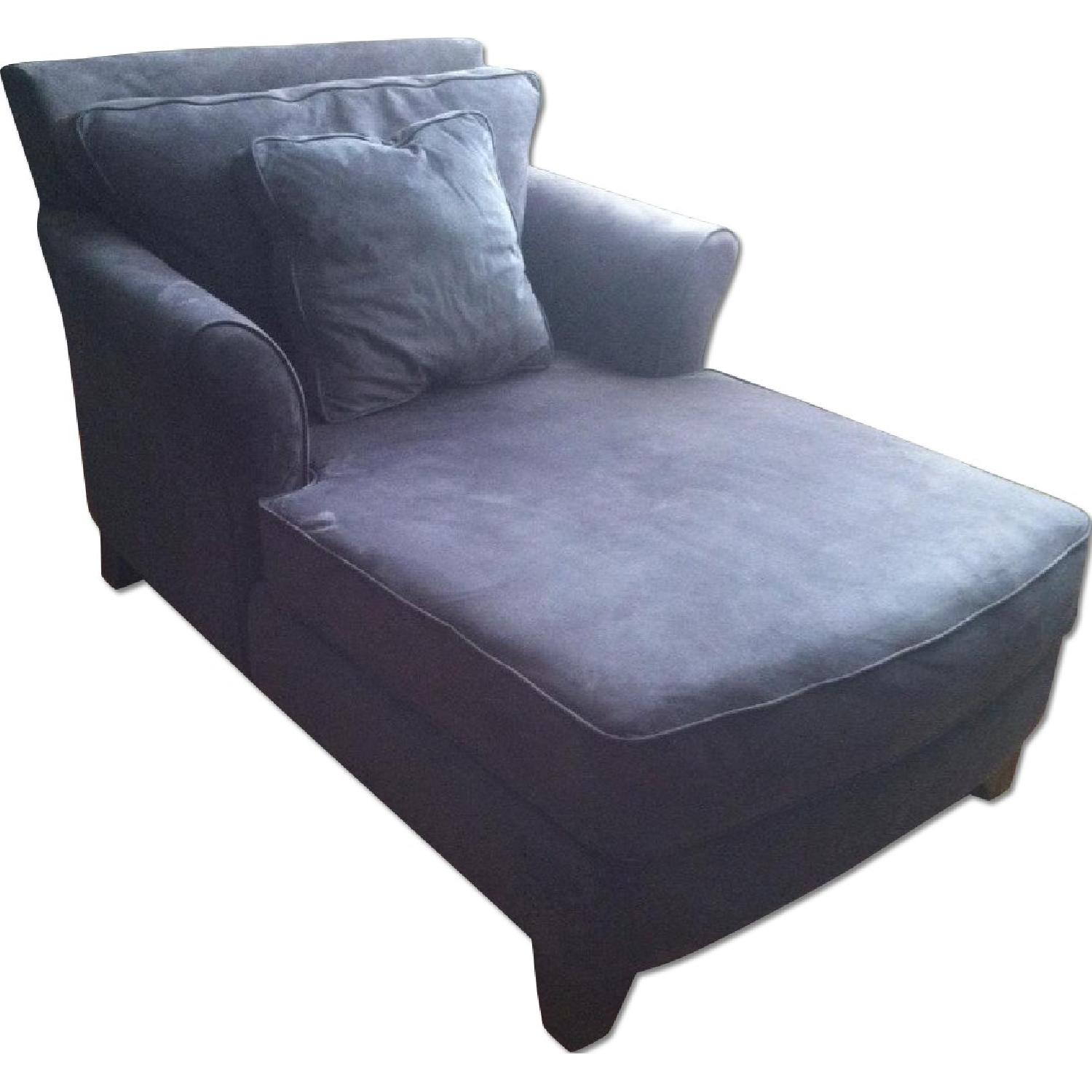 Used sofas for sale in nyc aptdeco for Blue chaise lounge