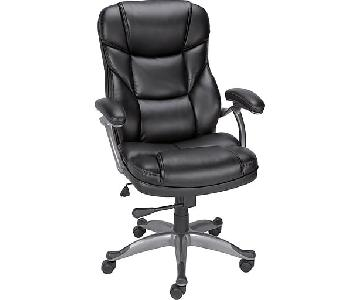 Staples Osgood Bonded Leather High-Back Managers Chair