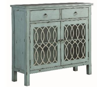 French Country Style Accent Cabinet in Antique Blue