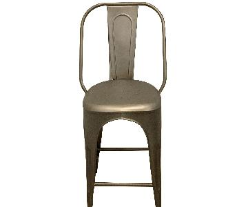 Restoration Hardware Remy Counter Stools in Gunmetal Grey