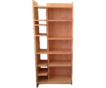 Crate & Barrel Natural Oak Wood Bookcase