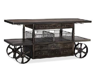 Pottery Barn Industrial Bar Cart