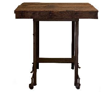 Reclaimed Wood & Re-Purposed Typewriter Side Table