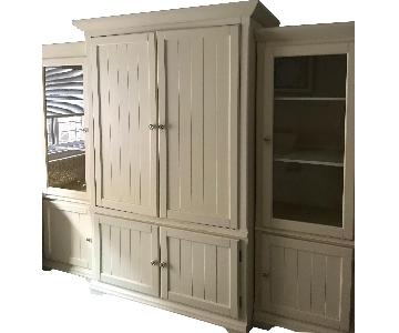 3-Piece Storage/Bookcases in Antique White