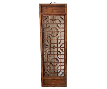 Antique Tall Chinese Window Screens