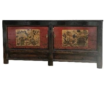 Antique Chinese Gansu Painted Cabinet