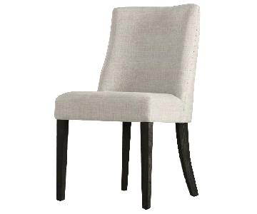 Restoration Hardware Beige Barrelback Dining Chairs