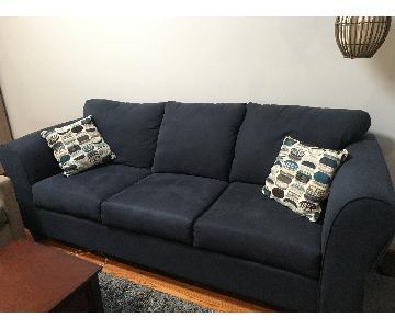 Ebern Designs Blue Muir Sofa