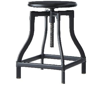 Crate & Barrel Turner Black Adjustable Stool