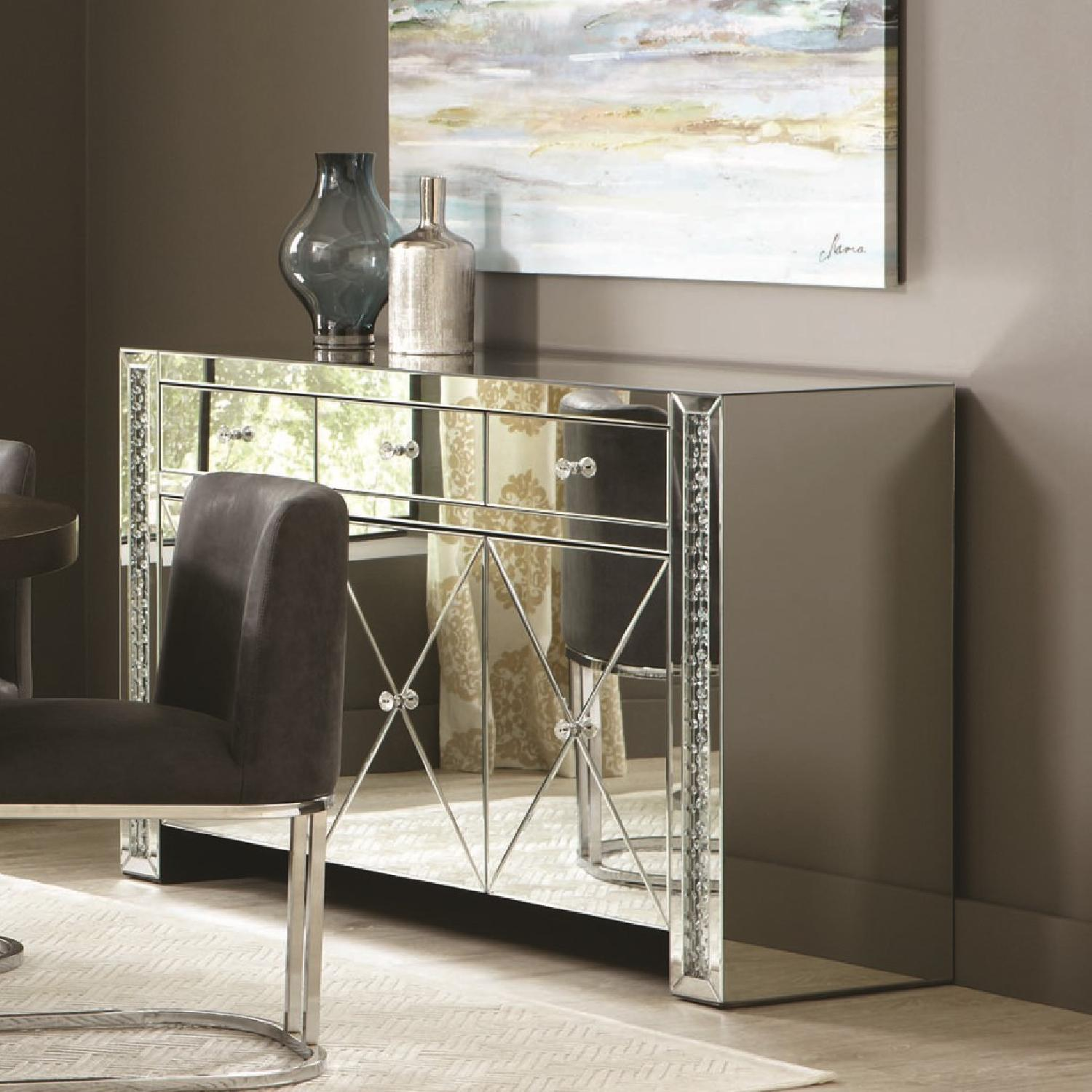 Contemporary Cabinet w/ Crystal Accents