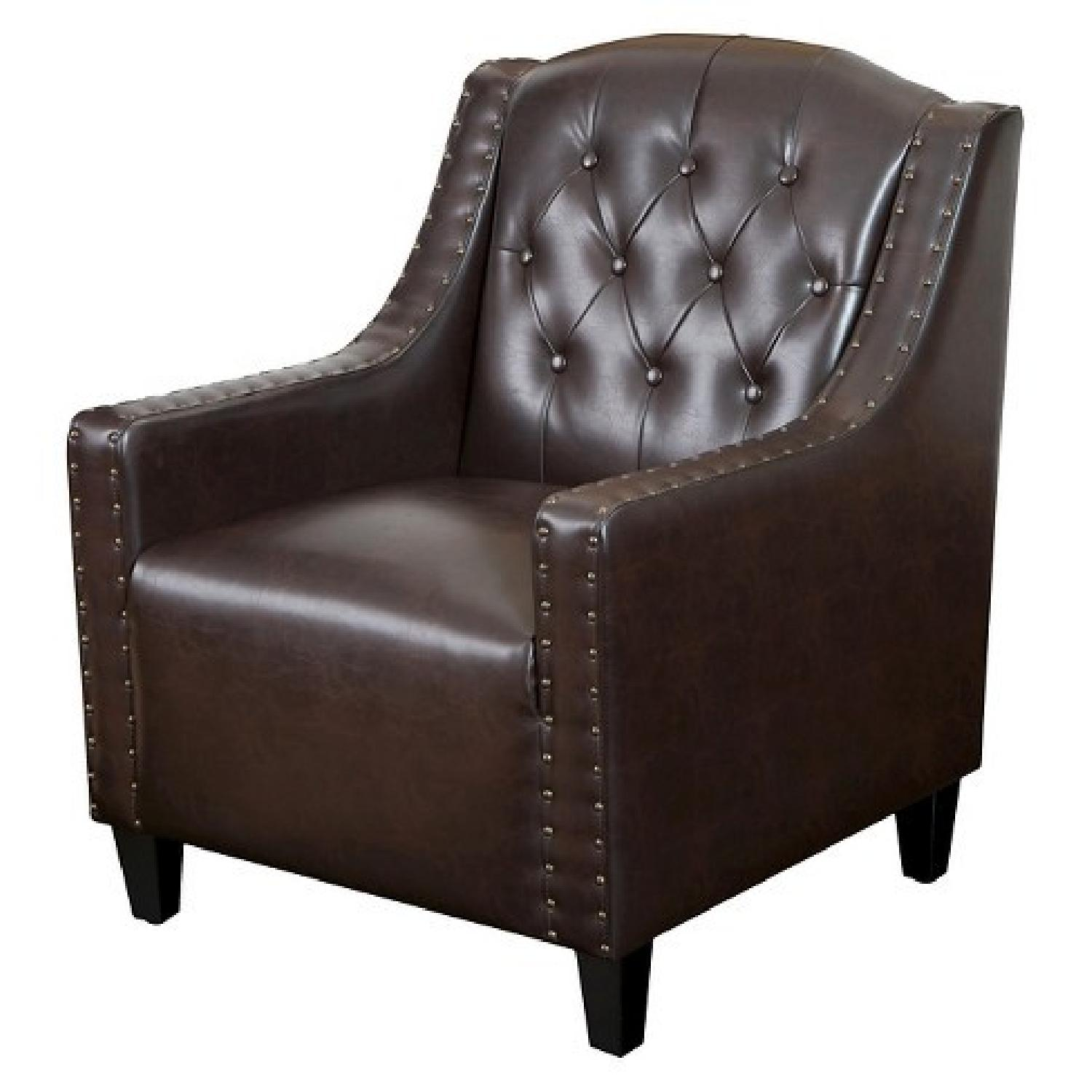 Target Bonded Leather Tufted Club Chair