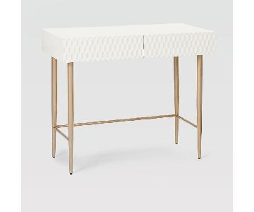 West Elm Audrey White Desk