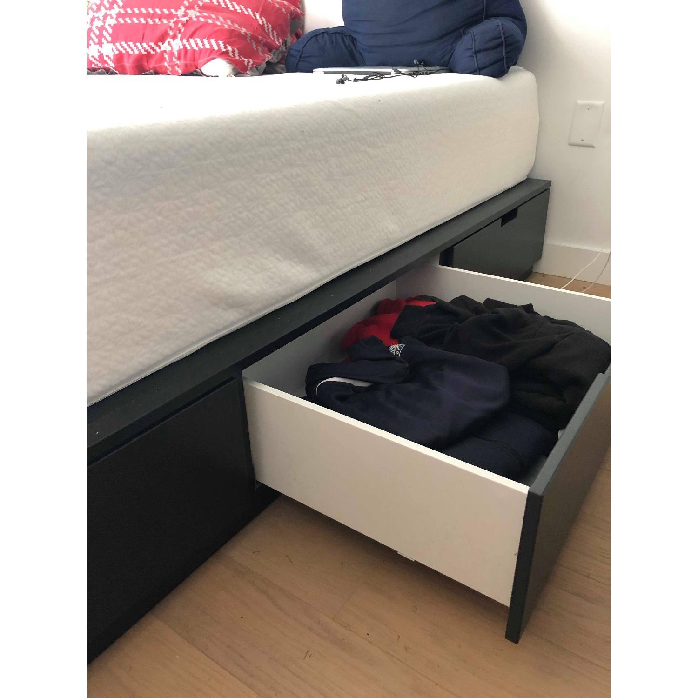Ikea Nordli Anthracite Queen Bed Frame w/ Storage