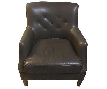 West Elm Leather Chair