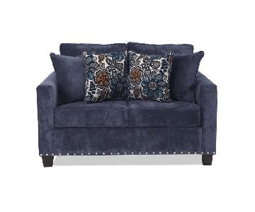 Bob's Dark Blue Loveseat