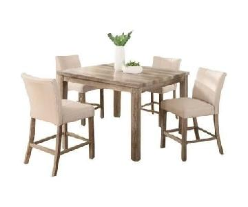 Shaunda Casual 5 Piece Counter Height Dining Set