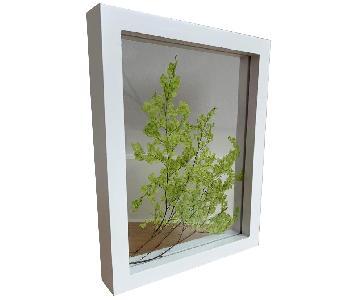 Framed Green Flowers