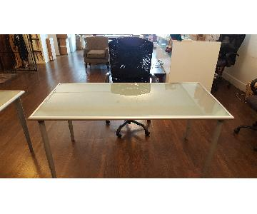 Ikea Glass Top Desk & Chair
