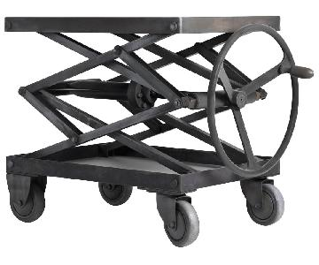 Restoration Hardware Iron Adjustable Coffee Table