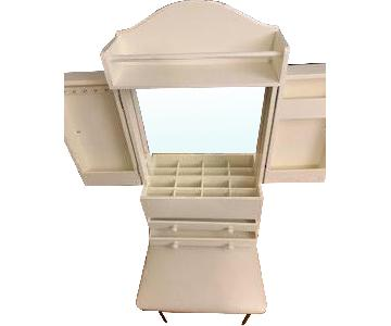 Hanging Jewelry Case w/ Mirror & Storage