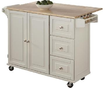Andover Mills Kuhnhenn Kitchen Cart w/ Wood Top