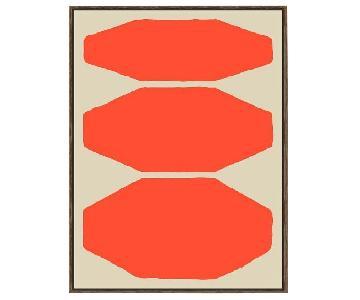 West Elm Framed Print-Mask III+IV