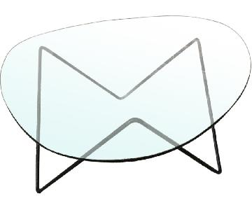 Design Within Reach Glass Top Coffee Table