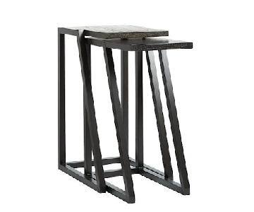 West Elm Parallel Nesting Tables in Chocolate