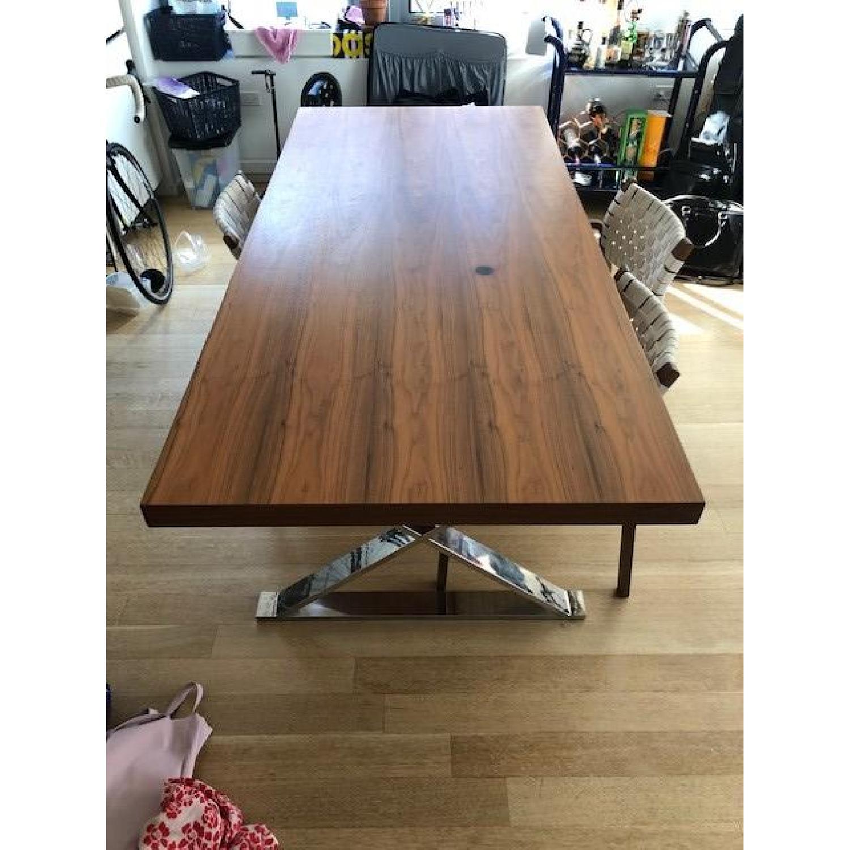 Pangea Home Chrome X Leg Dining Table