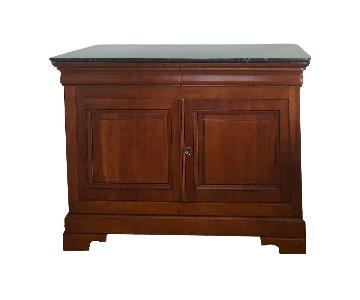 Grange Louis Philippe French Marble Top Buffet