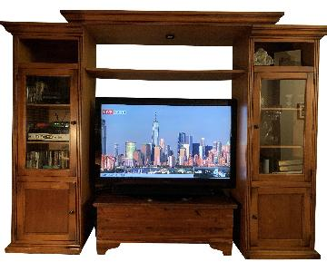Wood Media Center/Wall Unit