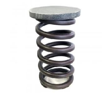 Restoration Hardware Industrial Iron Coil Stools