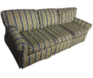 Striped 3 Seat er Sleeper Sofa