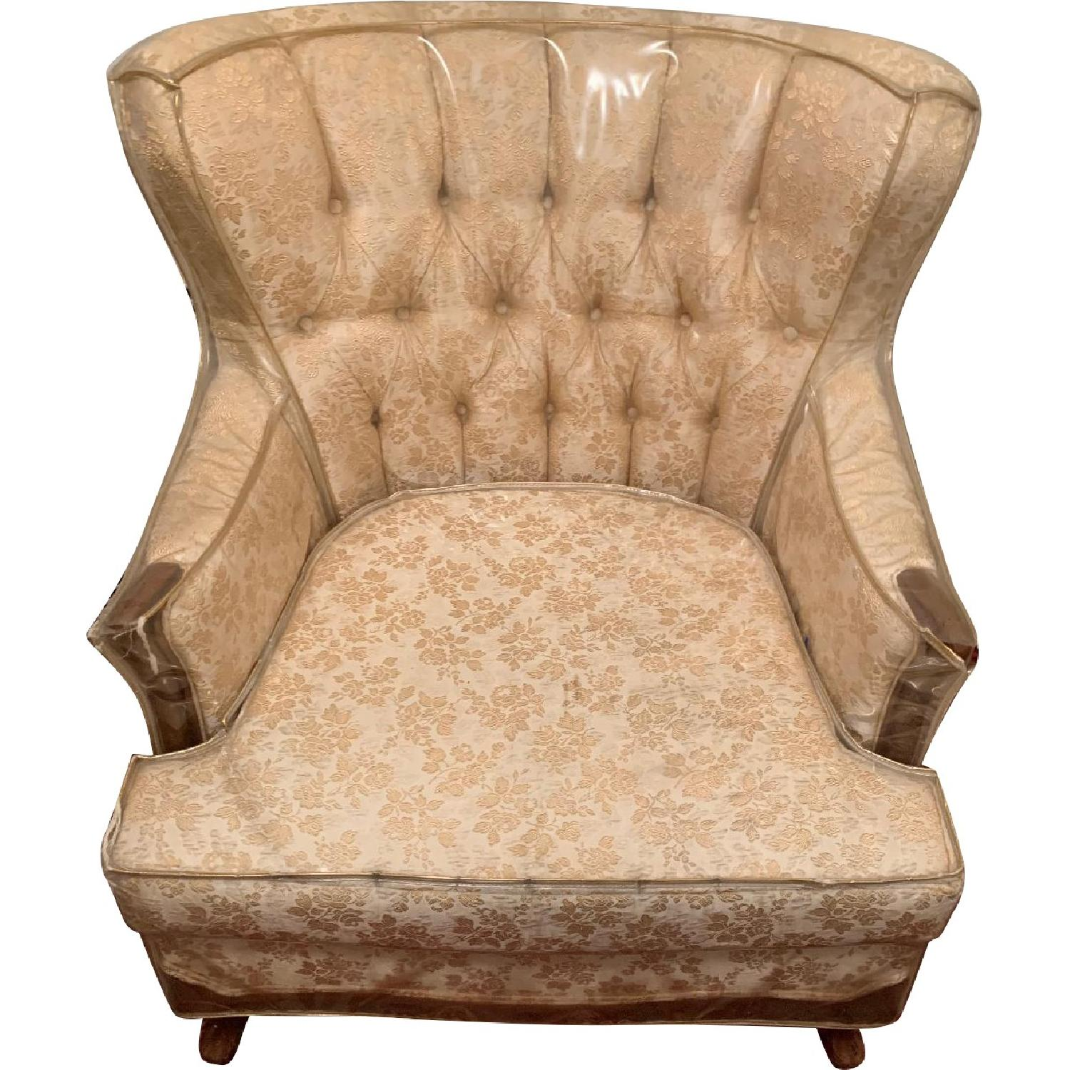 Bassett Tufted Wing Back Chairs