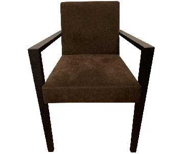 Ligne Roset French Line Brown Dining Side Chair