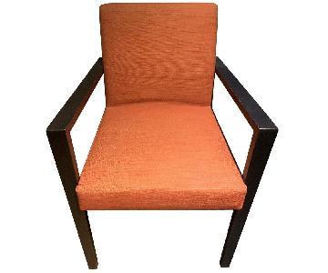 Ligne Roset French Line Terra Cotta Dining Arm Chair